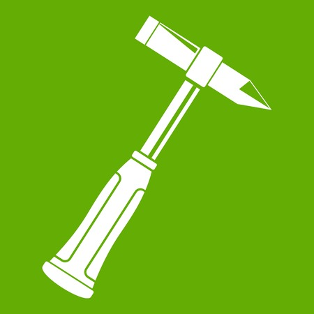 blacksmith: Hammer slag of welder icon green