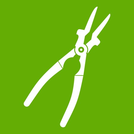 Metal welder pliers icon green Illustration