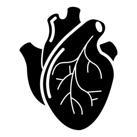 Icono de órgano del corazón humano estilo simple