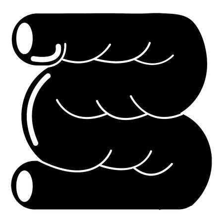 Large intestine icon , simple style Illustration