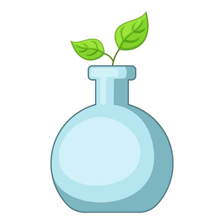Glass sprouting icon. Cartoon illustration of glass sprouting vector icon for web
