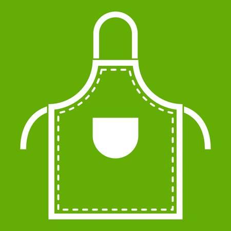 Welding apron icon white isolated on green background. Vector illustration Illustration