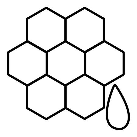 beeswax: Honeycomb icon. Outline illustration of honeycomb vector icon for web design isolated on white background Illustration