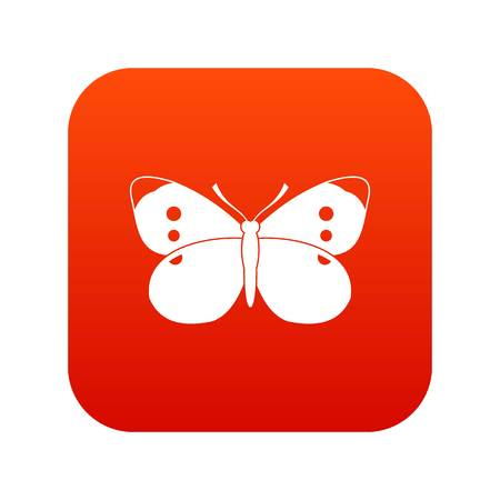 violet red: Butterfly icon digital red for any design isolated on white vector illustration