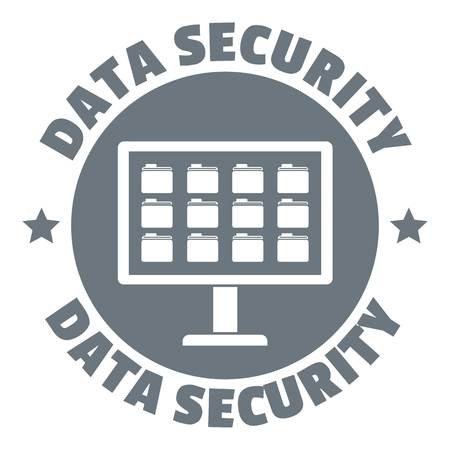 private security: Pc data security logo. Simple illustration of pc data security vector logo for web design isolated on white background Illustration