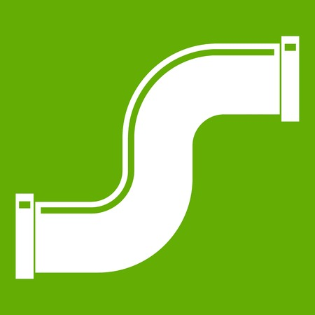 water s: Joint pipe in form S letter icon green