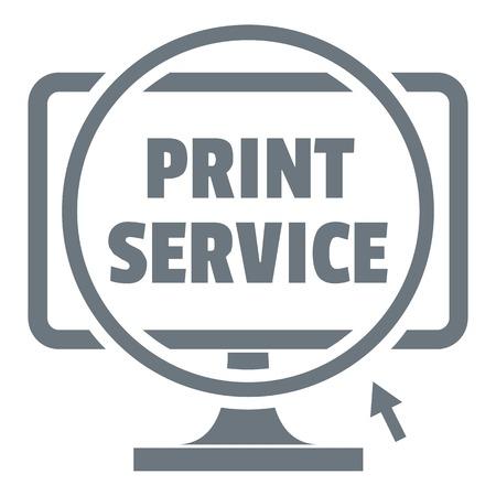 Print service logo, simple style Imagens - 85279524