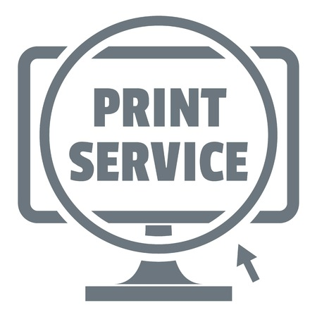 Print service logo, simple style