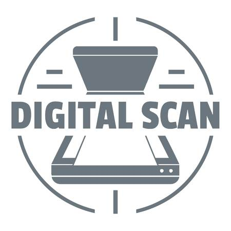 Digital scan logo. Simple illustration of digital scan vector logo for web design isolated on white background