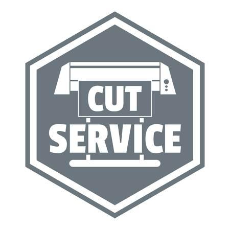 printshop: Cut service logo. Simple illustration of cut service vector logo for web design isolated on white background Illustration
