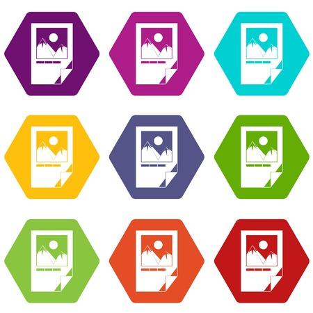 El Papel Probado De La Tinta Con Las Marcas De La Impresora Fijó El ...