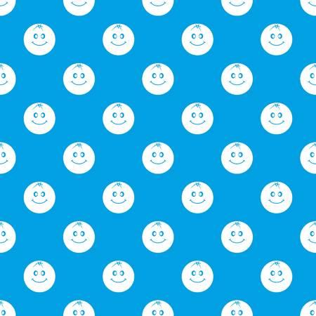 Smiling fruit pattern seamless blue