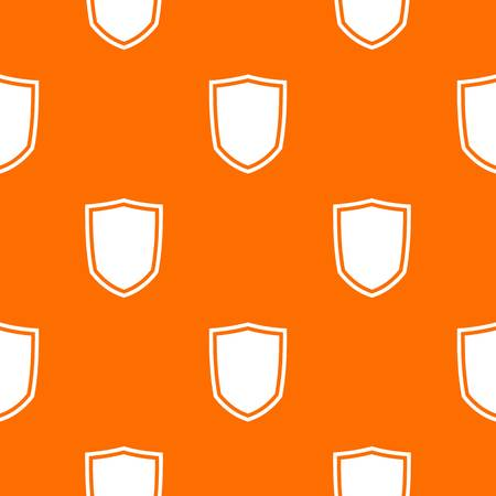 combatant: Military shield pattern repeat seamless in orange color for any design. Vector geometric illustration