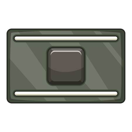 Cpu microprocessor chips icon. Cartoon illustration of cpu microprocessor chips vector icon for web