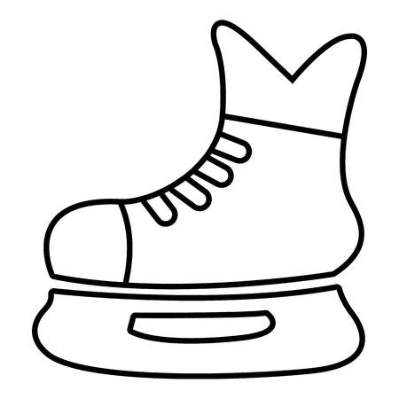 Ice hockey skate icon. Outline illustration of ice hockey skate vector icon for web design isolated on white background Illustration