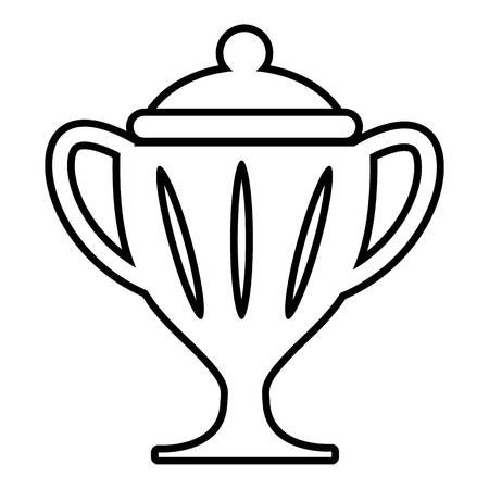 hockey goal: Ice hockey cup icon , outline style Illustration