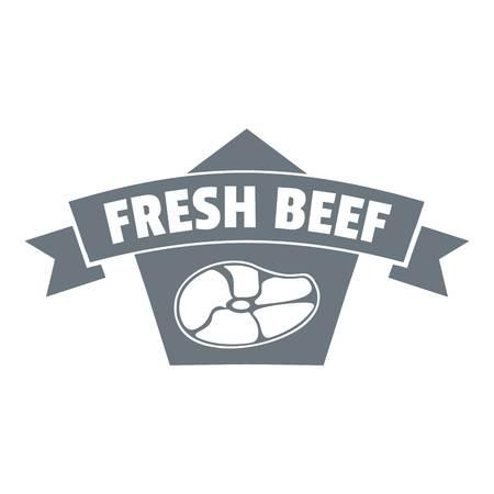 Fresh eco beef logo. Simple illustration of fresh eco beef vector logo for web design isolated on white background Illustration
