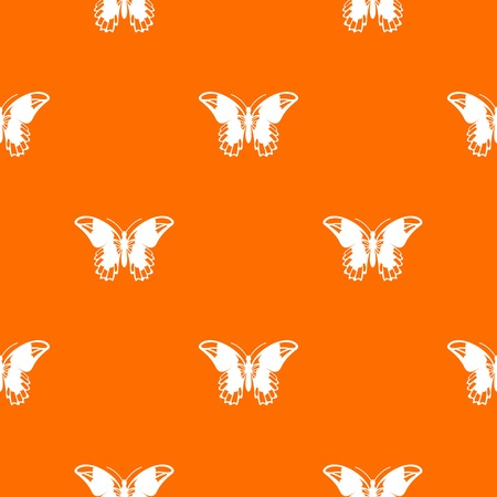 Admiral butterfly pattern repeat seamless in orange color for any design. Vector geometric illustration Illustration