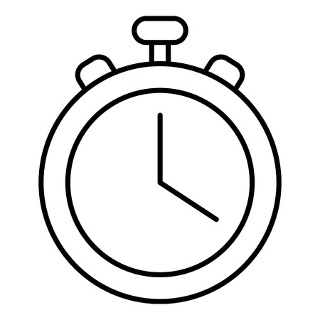 Stopwatch icon. Outline illustration of stopwatch vector icon for web design isolated on white background