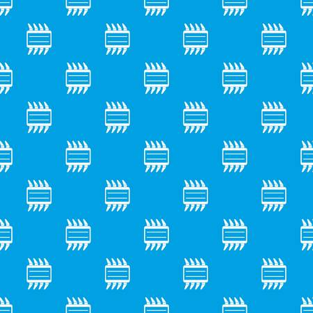 transistor: CPU pattern repeat seamless in blue color for any design. Vector geometric illustration