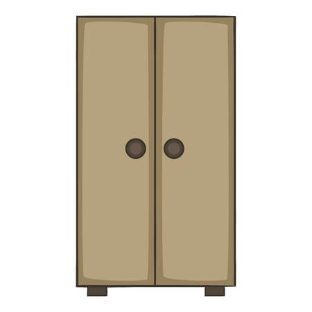 Cupboard icon, cartoon style