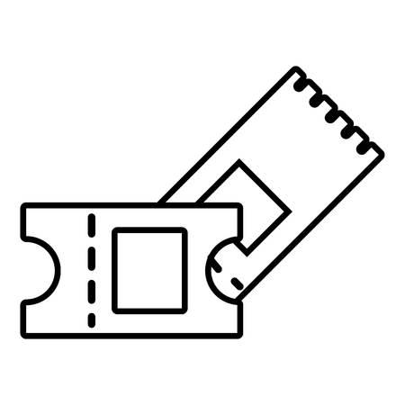 hockey goal: Ice hockey ticket icon , outline style Illustration