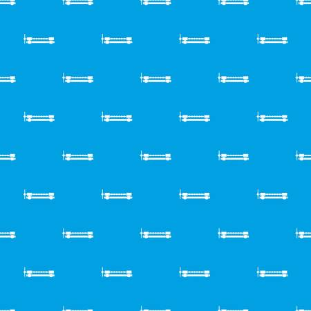 Blacksmiths clamp pattern repeat seamless in blue color for any design. Vector geometric illustration