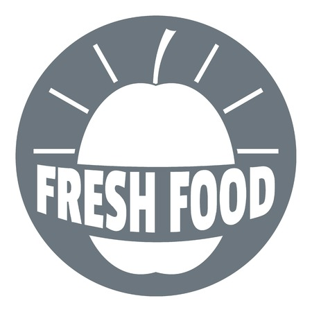 New fresh food logo. Simple illustration of new fresh food vector logo for web design isolated on white background