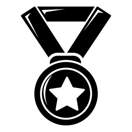hockey goal: Hockey champion medal icon , simple style