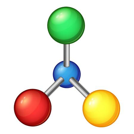 Laboratory molecule icon. Cartoon illustration of laboratory molecule vector icon for web