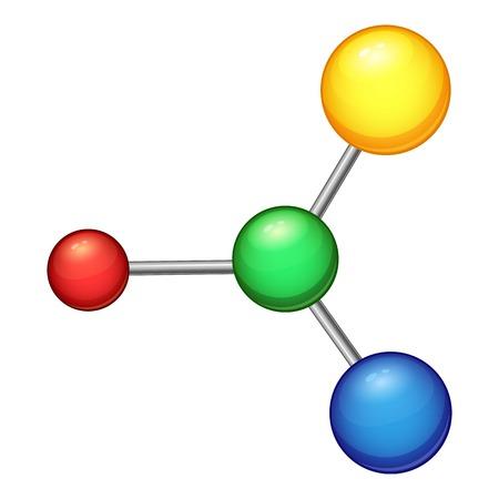 Formula molecule icon. Cartoon illustration of formula molecule vector icon for web Illustration