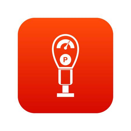 Parking meters icon digital red for any design isolated on white vector illustration Illustration