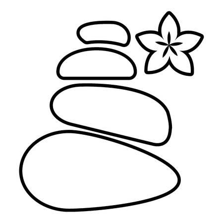 Wellness evenwicht stenen pictogram, Kaderstijl