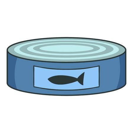 L'icône des conserves de poisson. Illustration de dessin animé d'icône de vecteur de conserves de poissons pour le Web Vecteurs