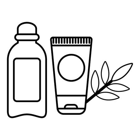 Eco natural cream icon. Outline illustration of eco natural cream vector icon for web design isolated on white background Illustration