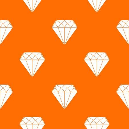 Diamond pattern repeat seamless in orange color for any design. Vector geometric illustration Illustration