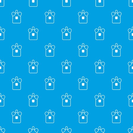Blacksmiths apron pattern repeat seamless in blue color for any design. Vector geometric illustration Illustration