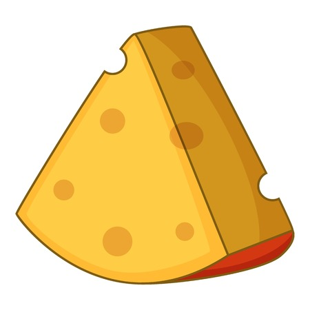 Cheese icon. Cartoon illustration of cheese vector icon for web