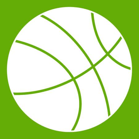 Basketball ball icon green