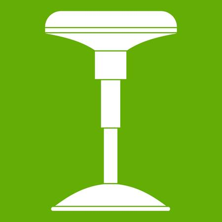 Bar stool icon white isolated on green background. Vector illustration