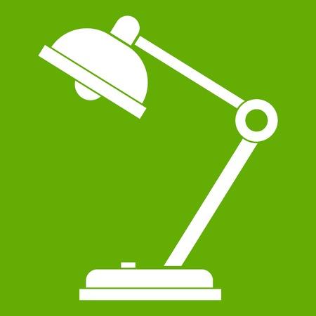 Desk lamp icon green Illustration
