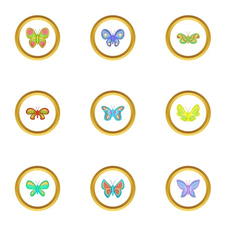 butterfly isolated: Flying insect icons.