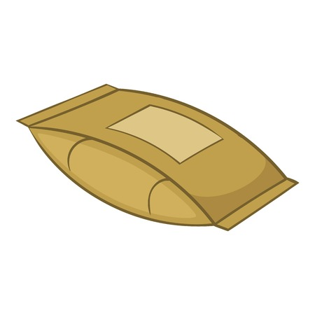 Cement bag icon, cartoon style