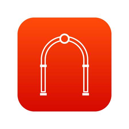 Arch icon digital red