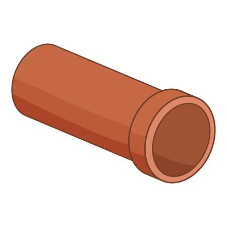 Plastic pipe icon. Cartoon illustration of plastic pipe vector icon for web Illustration