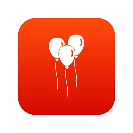 Balloons icon digital red for any design isolated on white vector illustration