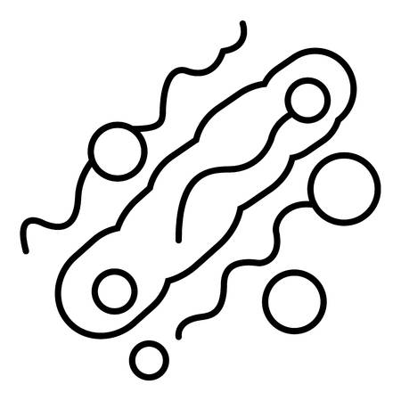 microbiologist: Corynebacterium icon. Outline illustration of corynebacterium vector icon for web design isolated on white background Illustration