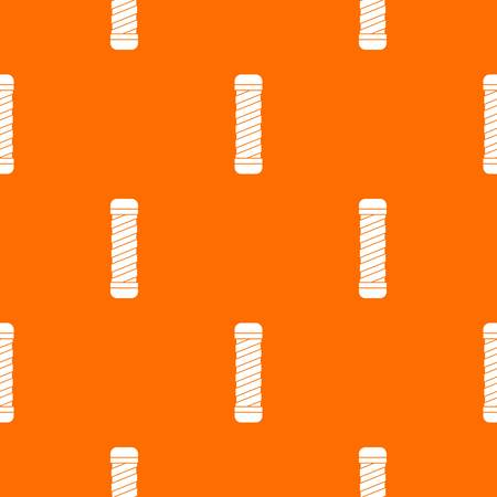 sports equipment: Handle for bike pattern repeat seamless in orange color for any design. Vector geometric illustration