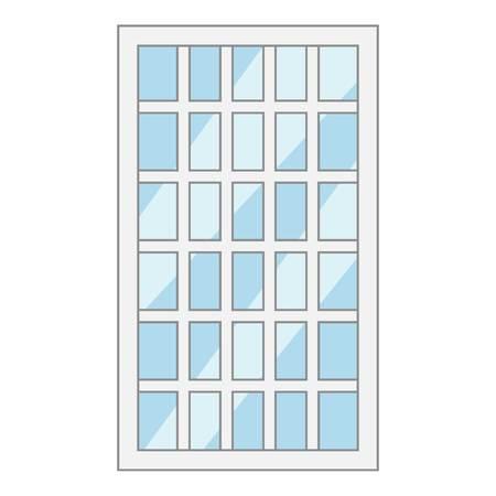 lattice window: Lattice window frame icon. Cartoon illustration of lattice window frame vector icon for web