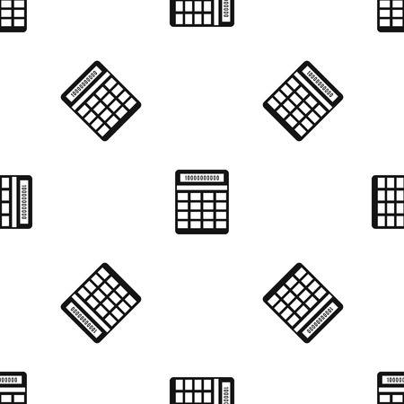 electronic background: Calculator pattern repeat seamless in black color for any design. Vector geometric illustration